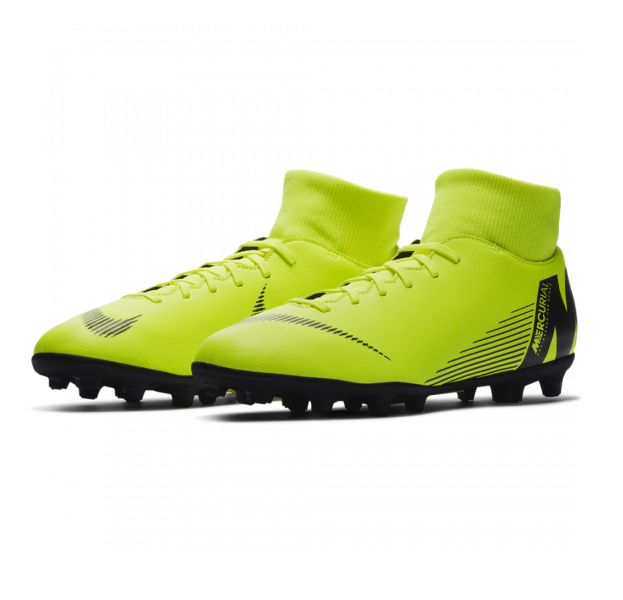 CHUTEIRA CAMPO NIKE MERCURIAL SUPERFLY VI CLUB ADULTO - LIME
