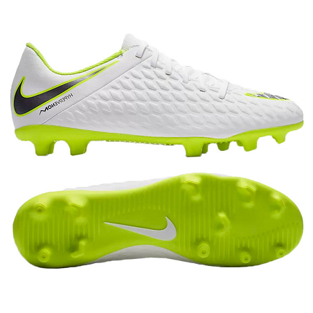 CHUTEIRA CAMPO NIKE PHANTOM 3 CLUB - BRANCO E LIME