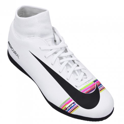 CHUTEIRA FUTSAL NIKE MERCURIAL SUPERFLYX 6 CR7 - BRANCO