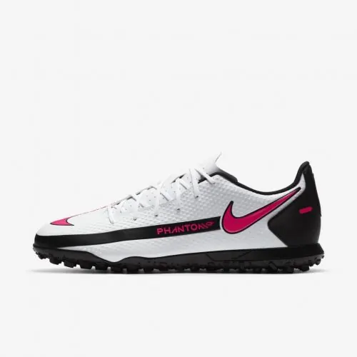 CHUTEIRA SOCIETY NIKE PHANTOM GT CLUB - BRANCO E PINK