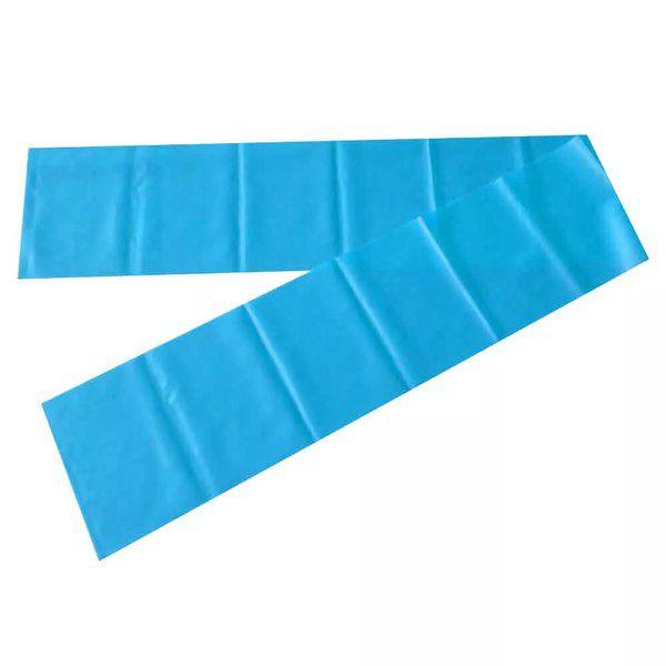 Faixa Elástica Gold Sports Nível Forte Pilates Band - Azul