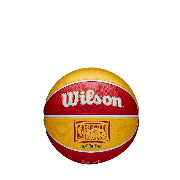MINI BOLA DE BASQUETE WILSON NBA RETRÔ HOUSTON ROCKETS - TAMANHO 3 -