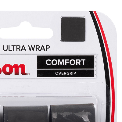 OVERGRIP WILSON ULTRA WRAP CONFORT  (PACK COM 3 UN.) - PRETO