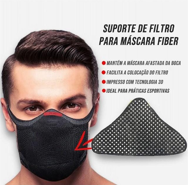 SUPORTE DE FILTRO PARA MÁSCARA FIBER KNIT - PRETO