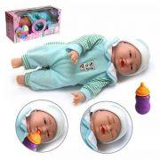 Boneca Bebê Expressão Facial 5 Funções Bella Baby - MENINO
