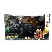 Boneco Dinossauro Agujaceratops  Com Luz E Som  Verde - DMT 5134