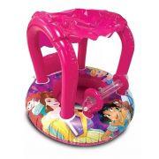 Bote Inflável Baby Com Cobertura Princesas 74x60cm  DYIN-164