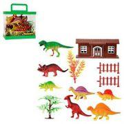 Brinquedo Kit Dinossauro Jurrasic de Plástico com Maleta