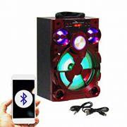 Caixa De Som Amplificada D-bh2024 Conexão Bluetooth, Usb, Entrada P2 ? Grasep (VERMELHA)
