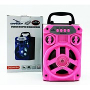 Caixa de Som Bluetooth  MP3 / USB / SD / Aux Grasep  D-BH4104 Rosa