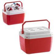 Caixa Térmica De Plastico Vermelha 17 Litros 39,5 x 31 x 25,5 cm
