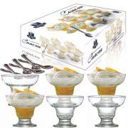 Conjunto Para Sobremesa Em Vidro 12 Peças New Cancum Ruvolo REF:1280707