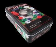 Jogo de Poker Na Lata 100 Fichas