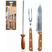 Kit para Churrasco Holz 03 peças