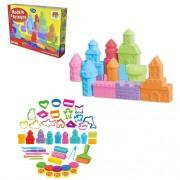 Massinha De Modelar Modele E Brinque Castelo Colors Com Acessorios 250g DMT 5336