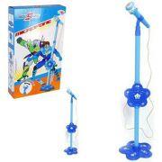 Microfone Infantil com Pedestal Auto falante Amplificante de Som (REF: WBU2035) Azul