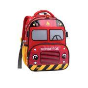 Mochila Costas Infantil Clio Kids Bombeiro Vermelho - MI13875
