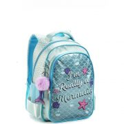 Mochila Infantil Glitter Unicórnio Seanite Azul MI14492