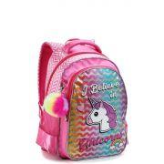 Mochila Infantil Glitter Unicórnio Seanite Rosa MI14492