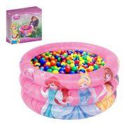 Piscina De Bolinhas Infantil Princesas Disney (# 91046) + 100 Bolinhas