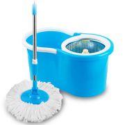 Super Mop Com Balde De Inox - azul - 2 refis