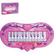 Teclado Infantil Piano Coracao Rosa 16cm Art Brink