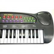 Teclado Musical à Pilha com Microfone - HS-999 DMT5386 Preto