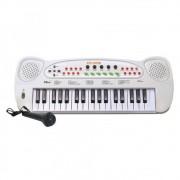 Teclado Musical à Pilha com Microfone - HS-999 DMT 5386 Branco