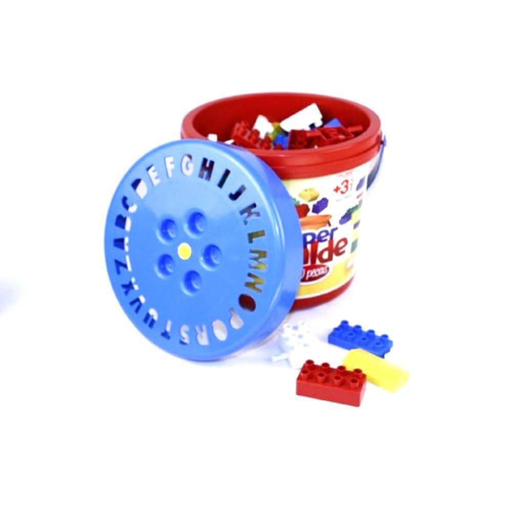 Balde Com Blocos Montar 100 Peças Brinquedo Educativo (REF: 1.100)