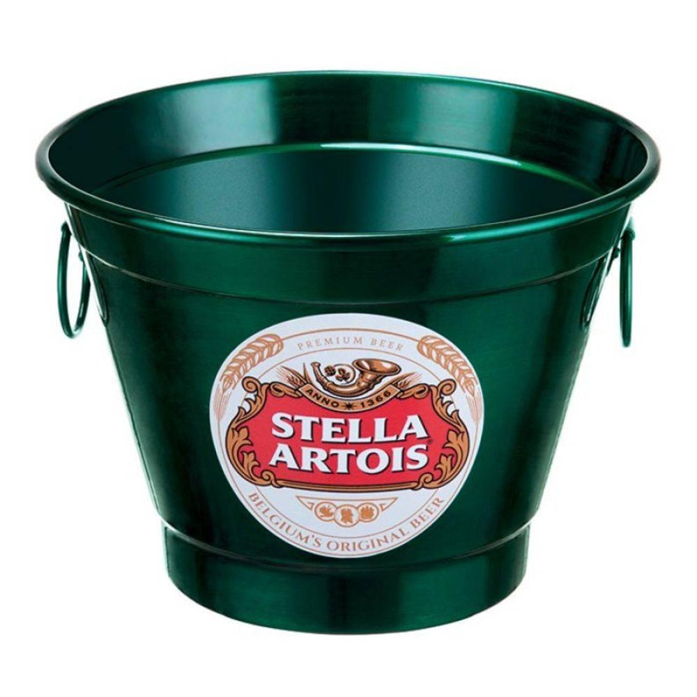 Balde De Gelo E Cerveja Em Alumínio 6 Litros Stella Artois