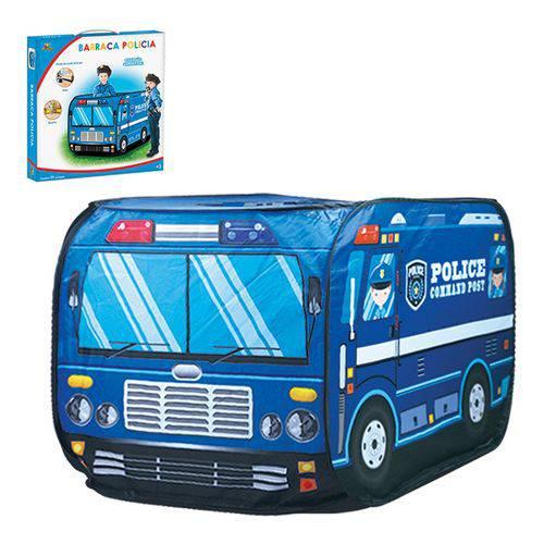 Barraca Infantil Portátil Carro De Polícia Viatura Azul Artbrink