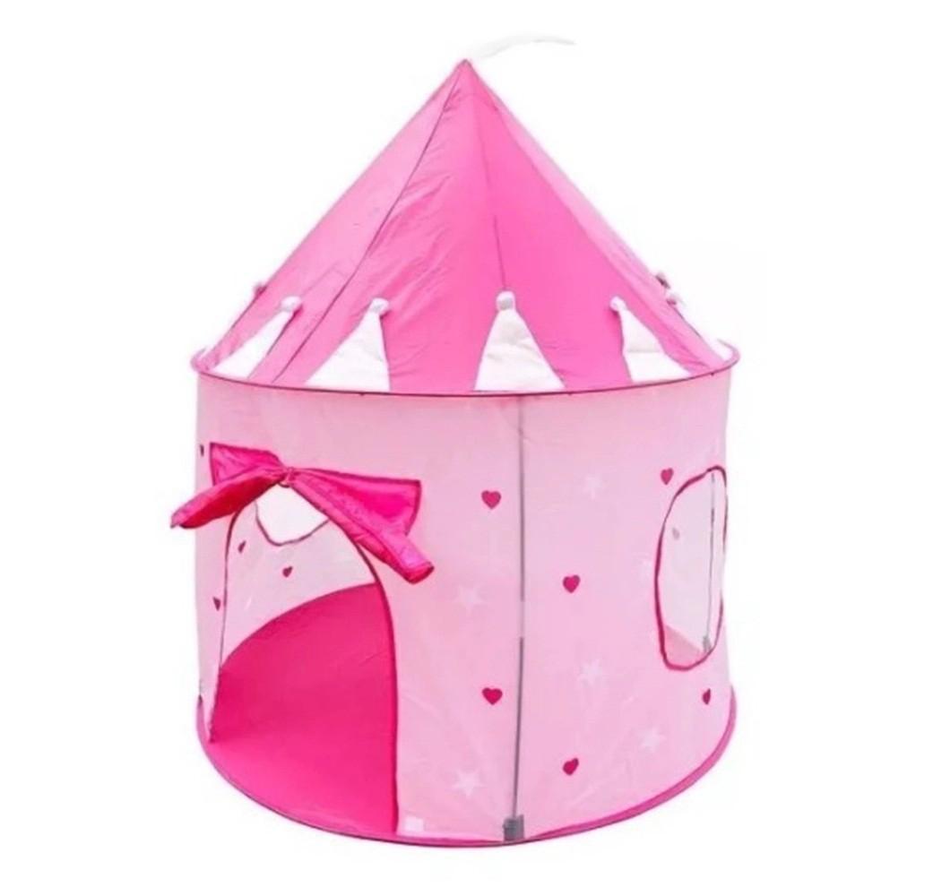 Barraca Toca Infantil Castelo das Princesas Rosa menina DMT5390