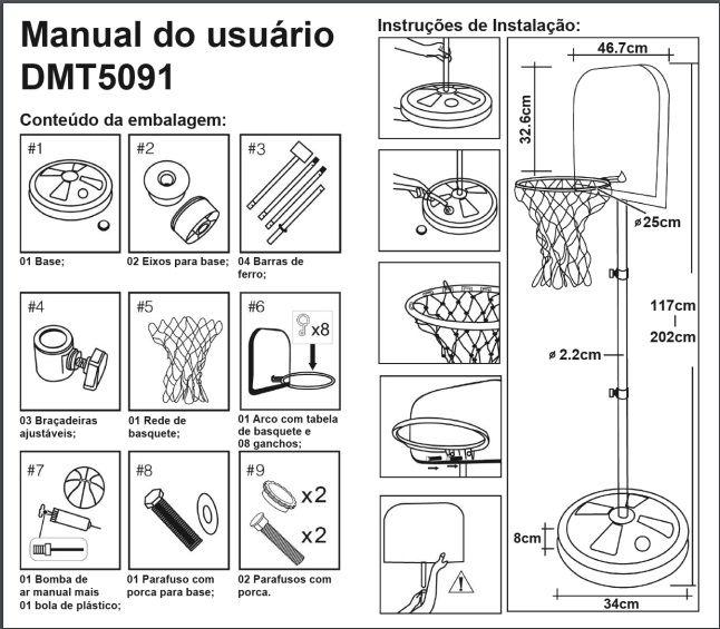Basquete Radical Dmt5091 - Dm Toys