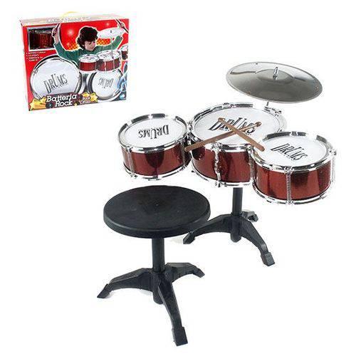 Bateria Infantil Musical Rock com Banqueta REF: WB 4194