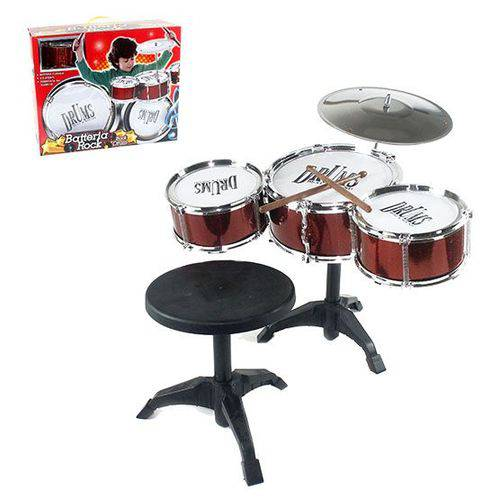 Bateria Infantil Musical Rock com Banqueta (WB 4194) WELL KIDS