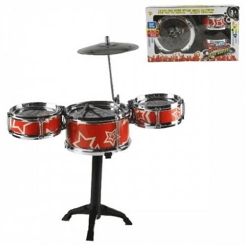 Bateria Musical Infantil First Band Com 3 Tambores Completa - WB 4193