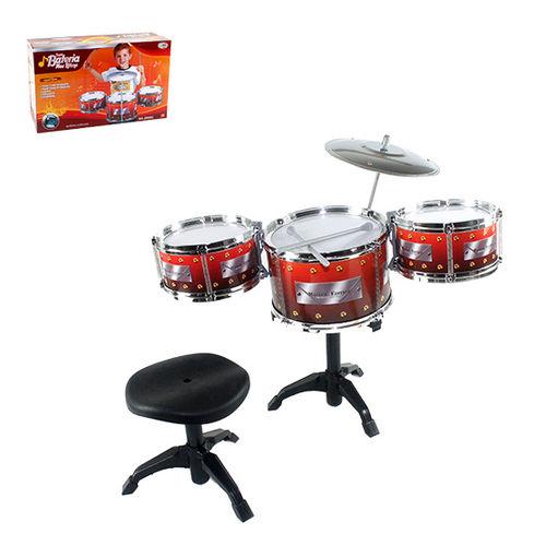 Bateria Musical Super Meu Ritimo Com Banqueta - WBU 2161