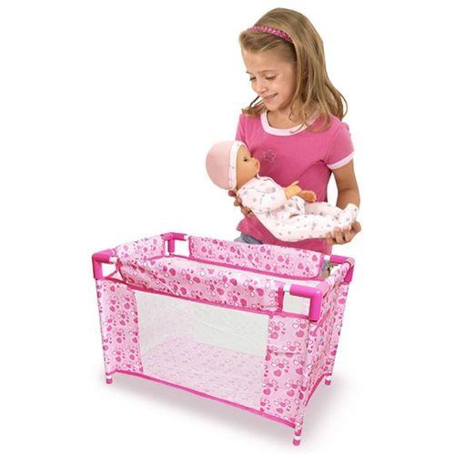 Berco Para Boneca Dobravel Cama Caminha Brinquedo Infantil Criança - DMT 5088