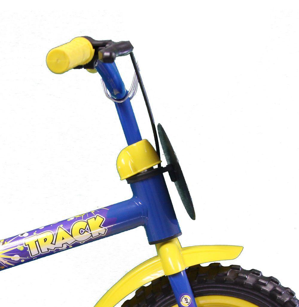 Bicicleta Infantil Track Bikes Arco Iris Aro 12 Amarelo/Azul
