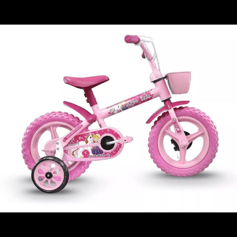 Bicicleta Infantil Track Bikes Arco Iris Aro 12 Rosa