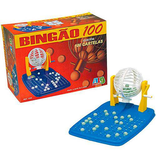 Bingão - 100 Cartelas  - Nig - Ref.1051