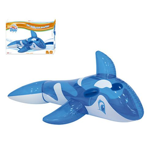 Boia Baleia Inflável Translucida Azul C/Alca 145 x 80 cm Summer REF: WS 37215