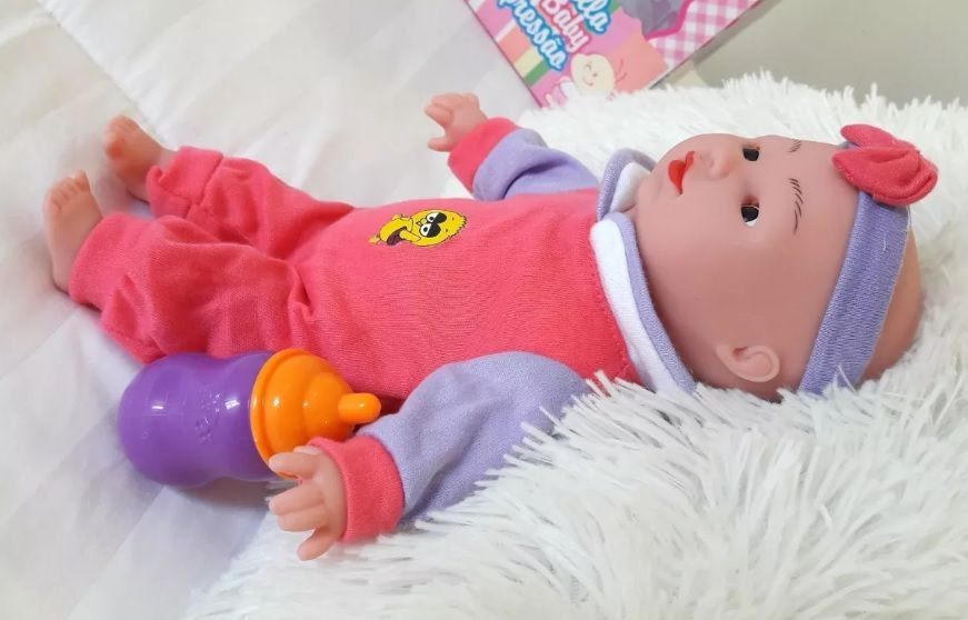 Boneca Bella Baby Expressao Menina Rosa - Arcani Kids