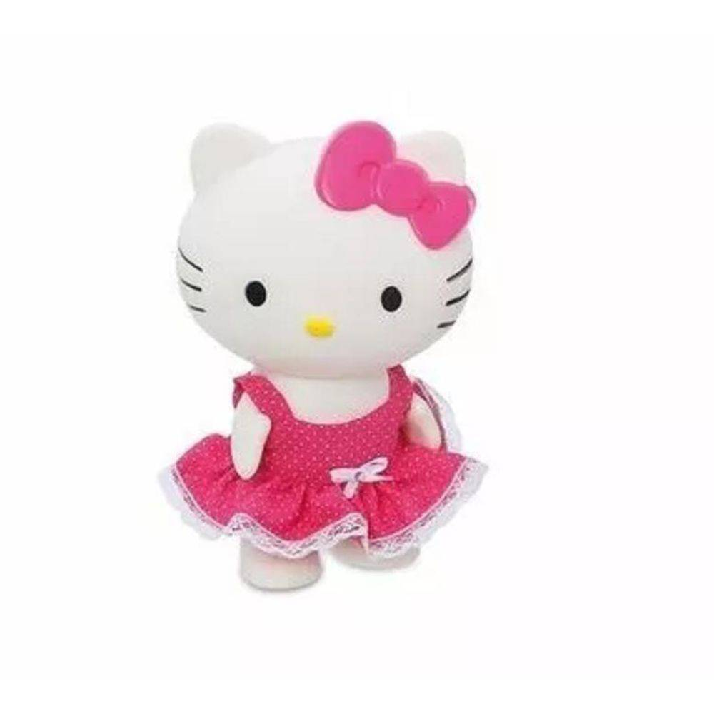 Boneca Hello Kitty toda em vinil top cor rosa