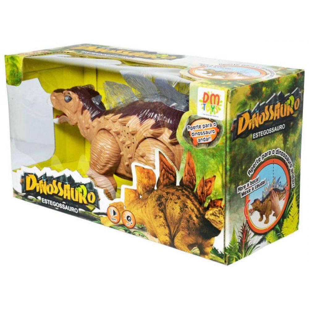 Boneco Dinossauro Estegossauro Luz Som E Movimento DM Toys - DMT 4723