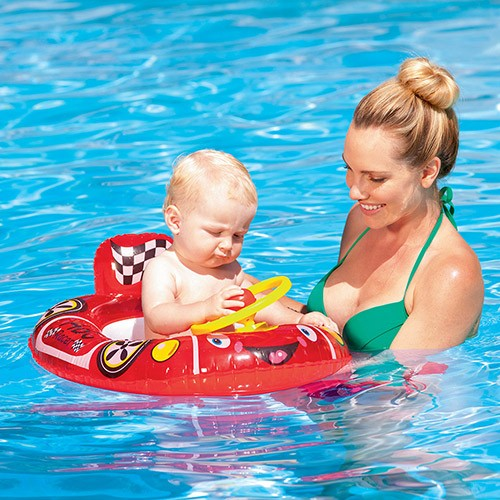 Bote Infantil Carrinho de Bebê Vermelho 71cmx56cm - Bestway REF: 34045 Vermelho