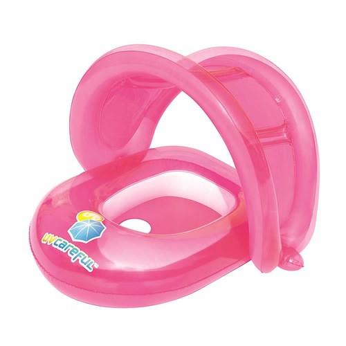 Bote Inflável Infantil Para Crianças De 1 A 2 Anos Com Proteção Solar UPF 50 - REF: 34091 Rosa