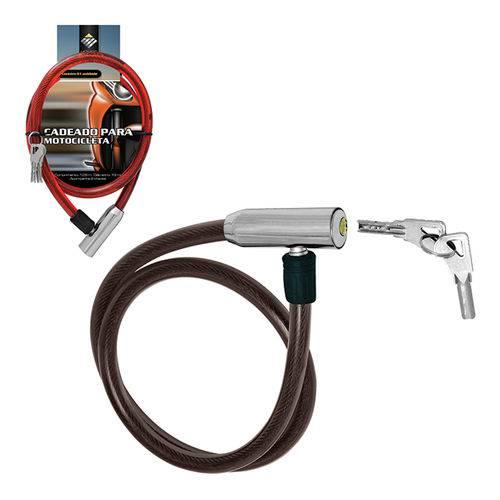 Cadeado para Moto Reforçado Primeira Linha com 2 Chaves 1,05 m - BS 050