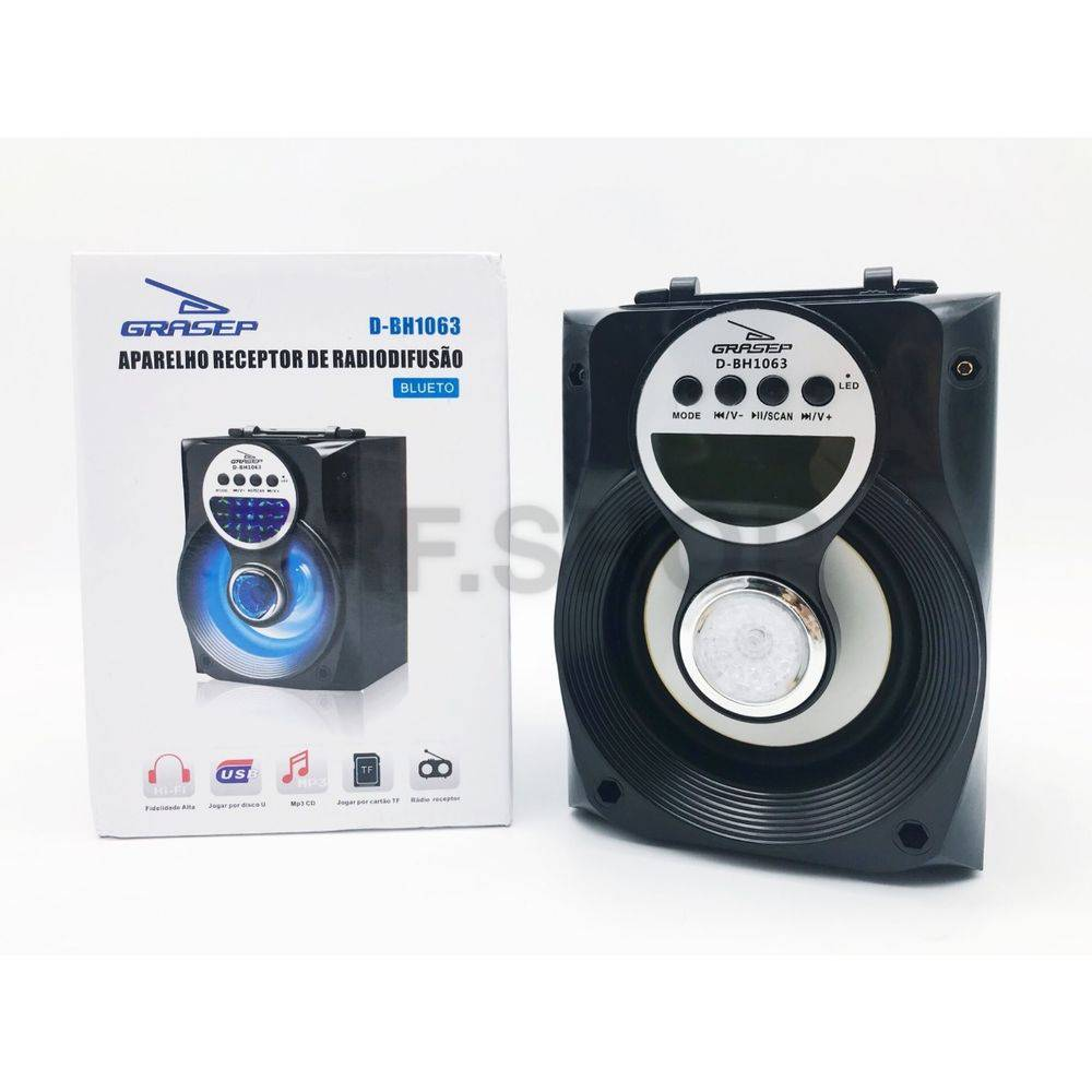 Caixa Bluetooth USB/fm 8w Rms D-bh1063 - Grasep