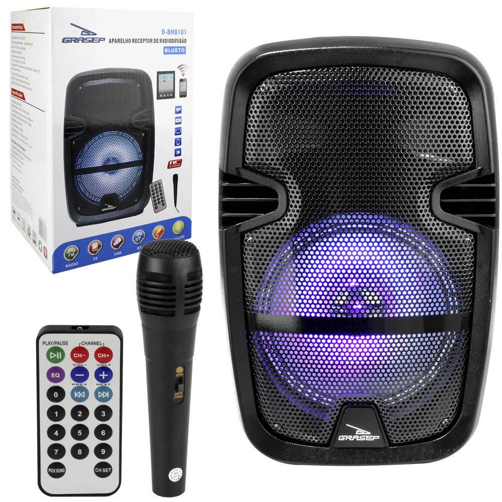 Caixa De Som 30w Portatil Bluetooth Amplificada Com Microfone E Controle D-bh8101